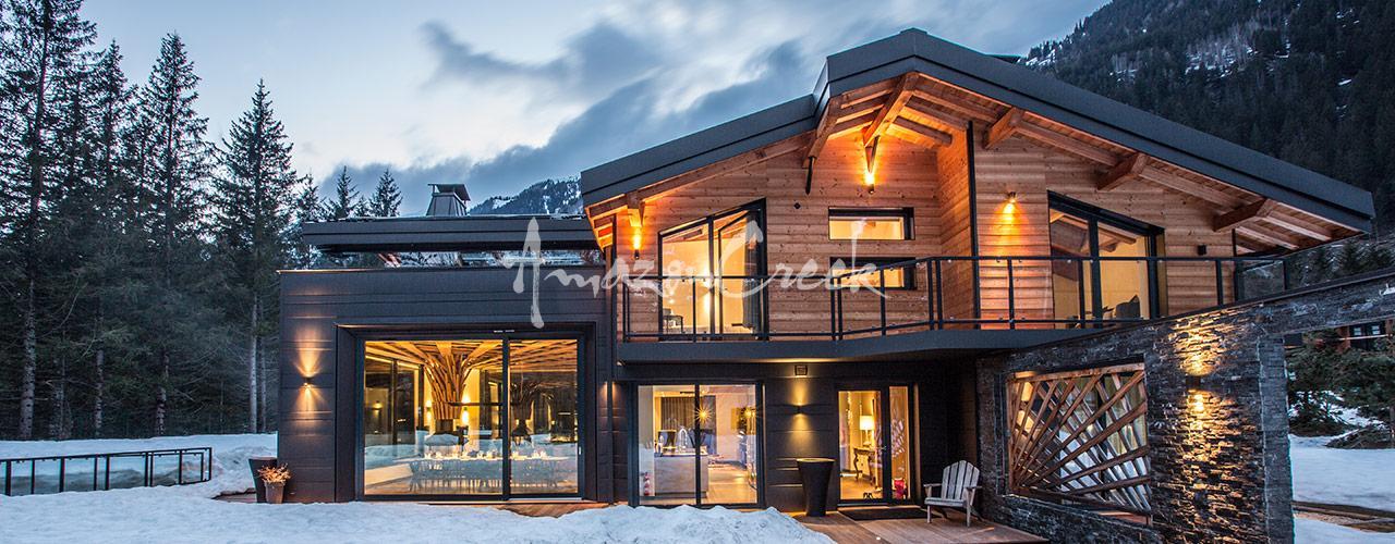 Chalet Dalmore, chalet contemporain de luxe, Chamonix | Amazon Creek