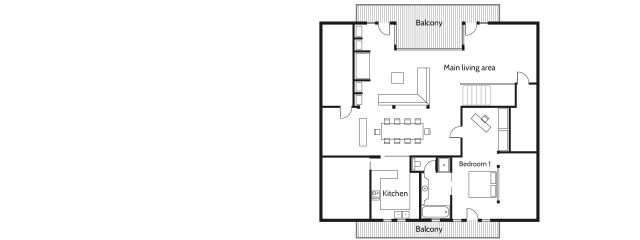 Chalet Baloo First Floor